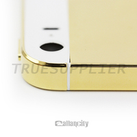 Luxury 24k gold plated for iphone 5 5s back cover housing replacement
