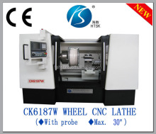 Alloy wheel rim repair cnc lathe CK6187W manual turret lathe