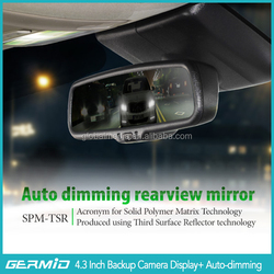 rear view mirror backup camera of 4.3 inch for car