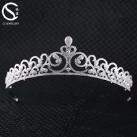 Luxury Crystal Rhinestone Pageant Crowns And Tiaras For Wedding
