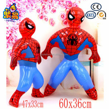 All kinds of cartoon design air toy inflatable spiderman toys for baby play