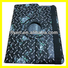 Pattern Rose Supreme For iPad 4 4th 3 & 2 Retina Display 360 Rotating Flower Leather Case Cover Wholesale Good Price