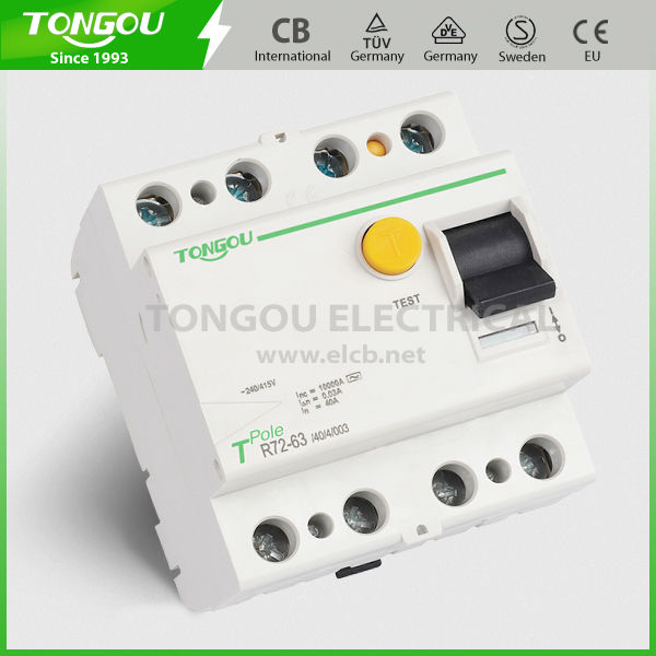 TOR72-63 4P Residual Current Circuit Breaker mcb rcd mccb with high making and breaking capacity 630A