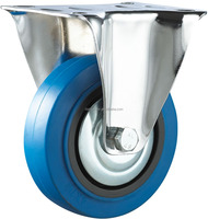 5 inch elastic and shock absorbing industrial casters and wheels