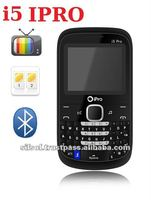 I5 IPRO cell phone low price with fine workmanship Quality! Quadband dual Sim TV mobile phone Qwerty bluetooth