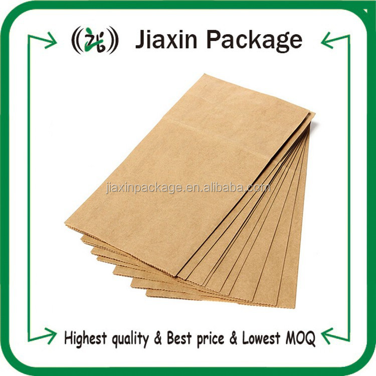 2015 new arrival custom made mini craft brown paper packaging bags