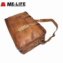 New Arrived Leather Travel Bag Crossbody Laptop luggage bags For Man Travelling Computer Bag Genuine cow leather Briefcase
