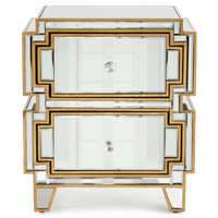 Exellent quality China factory produce antique mirrored nightstand table for sale