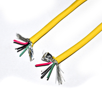 yellow custom color 5wires copper wire shielded PVC electric wire