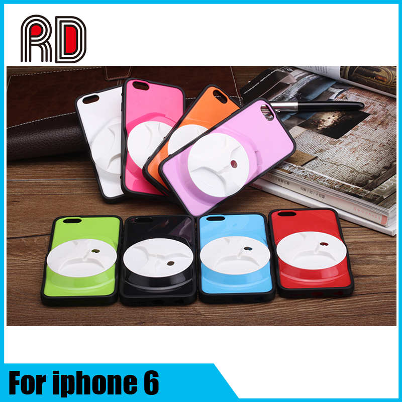 Alibaba Express Novel Design Multifunctional PC Back Cover Case With Earphone Holder For IPhone 6