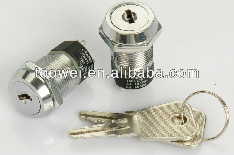 19mm key lock switch for slot machine