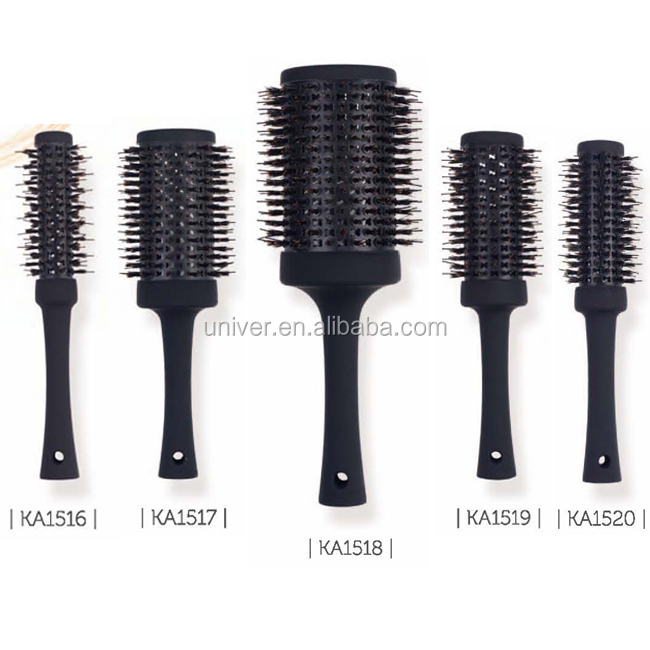 Plastic Handle Aluminium Barrel Bristle + Nylon Hair Brush KA1516-KA1520