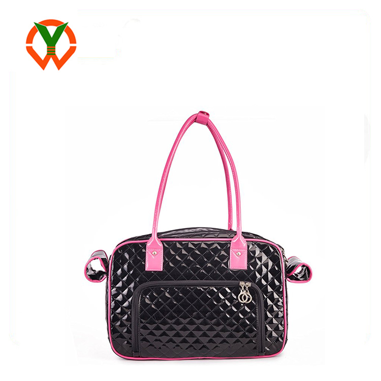 Fashion Luxury PU Leather Dog Carrier Tote Handbag Pet Accessories