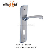 wenzhou factory middle east styles room zinc door handle on plate