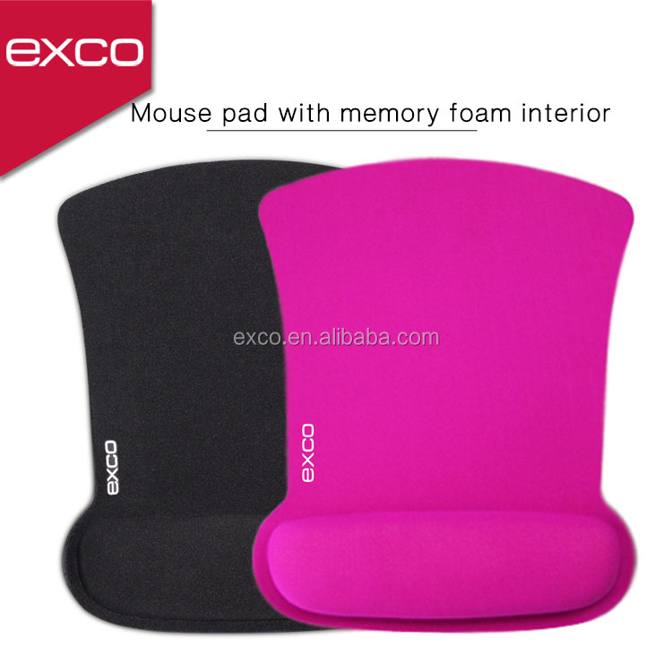 EXCO Human Engineering Comfortable Rubber Mouse Pad with Wrist Rest