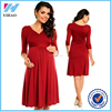 Yihao New Fashion Maternity long Sleeve formal party Dresses Women's Casual Elegant Cocktail Maxi Dress