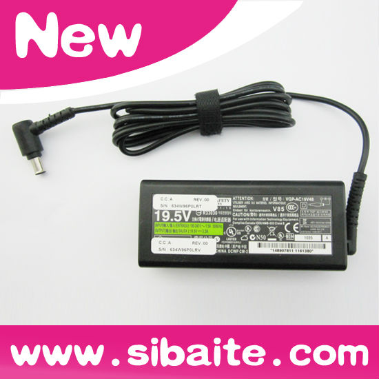 New Replacemente Laptop Adapter For SONY 19.5V 3.3A VGP-AC19V48 6.5MM 4.4MM