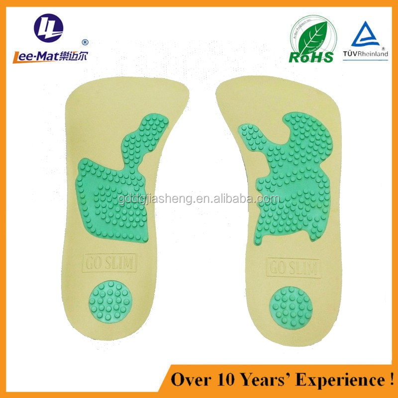 New design foot massage insole acupuncture insole anti-slip shoe pads
