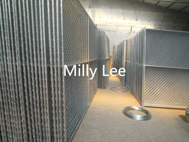best selling! galvanized chain link panel fencing manufacture/temporary chain wire fencing direct factory