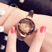 thin leather band lady women watch fashion thin quartz new year dress watch