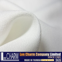 100% White Polyester Crepe Fabric For Dresses Materials