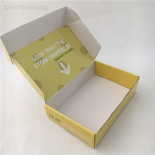 Hotsale Custom Both Sides Printing High End Rigid E-Flute Paper Cardboard Wax Corrugated Cardbord Mailing Box