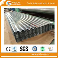 hot dipped corrugated steel sheet / roofing sheet / galvanized corrugated steel plate