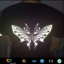 glow in the dark and reflective heat transfer label for t-shirt