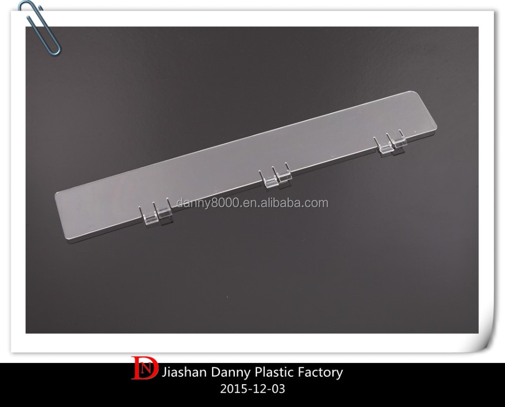 Supermarket clear acrylic shelf divider(DN-02211)