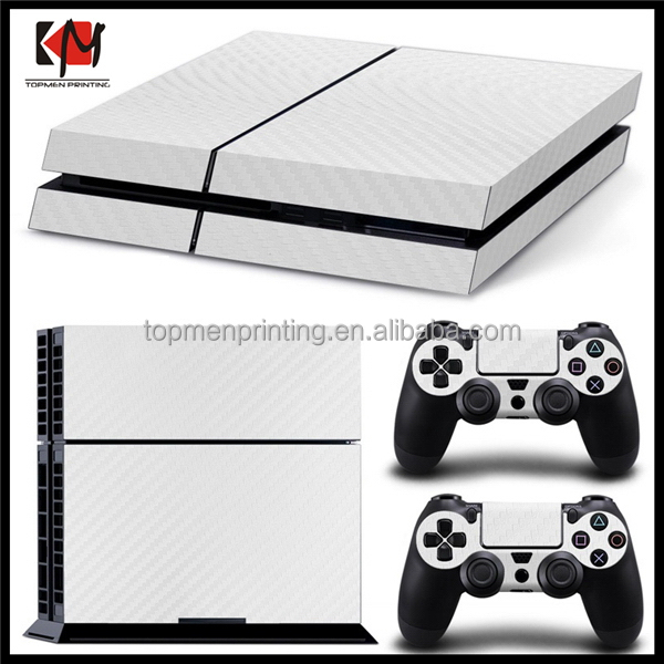 2016 hot sell carbon sticker skin for ps4 console