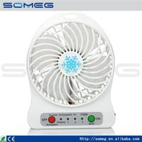 USB Mini Portable Fans 18650 li ion Rechargeable Battery Powered Outdoor Camping office USB Cooler Adjustable Speed Fan