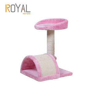 Variety Styles Wooden Cardboard Cat House Tree Indoor ,Kitty condo Wholesale Simple small Cat Tree Scratcher Tower