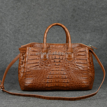 crocodile fuscus tote bag_ exotic bag_animal skin handbag