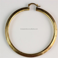 Top Seller High Quality Many Different Simple Design Cheap Indian Raw Brass Hoop Earrings