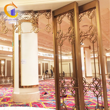 Custom Manufacturing Hotel Restaurant Stainless Steel Hall And Dining Banquet Room Partitions Removable Dubai Room Divider