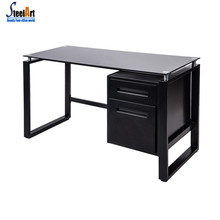 Modern simple computer table design steel frame office table office furniture computer desk