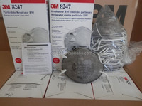 3M Particulate Respirator 8247, 3M R95 mask , with Nuisance Level Organic Vapor Relief 3m nose mask