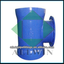 big size pvc double socket tee with flange branch