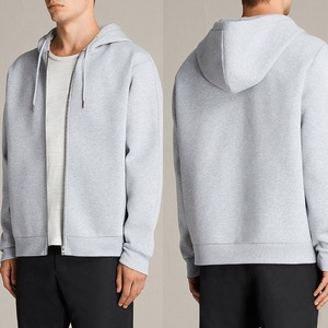 2018 sportwear new design high quality neoprene grey fashion oversized fit hooded sweatshirt for mens