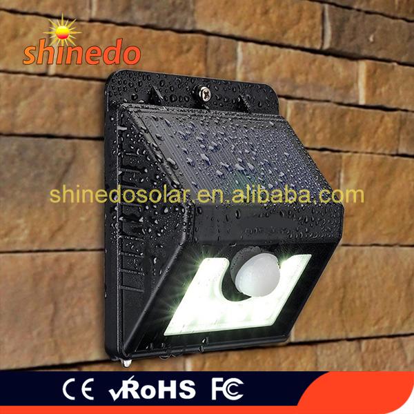 Waterproof 8 Led Solar Motion Sensor Wall Bracket Light Outdoor For Walkway Porch Garden