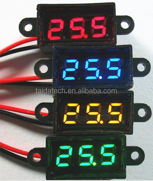 Supply 2 Wire DC <strong>3</strong>.5-30V Waterproof Automatic Adjustment LED Panel Digital Display Voltage Meter Voltmeter