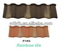 types of wood shape stone coated metal roof tile in nigeria