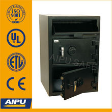 Double door Front loading depository drop safes FL2820S1-CC safe deposit box of 3mm body and 12mm door