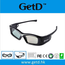 Cheap active dlp link 3d lcd glass shutter glasses for projector use