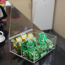 Wholesale High Quality Acrylic Tea Bag Storage Box