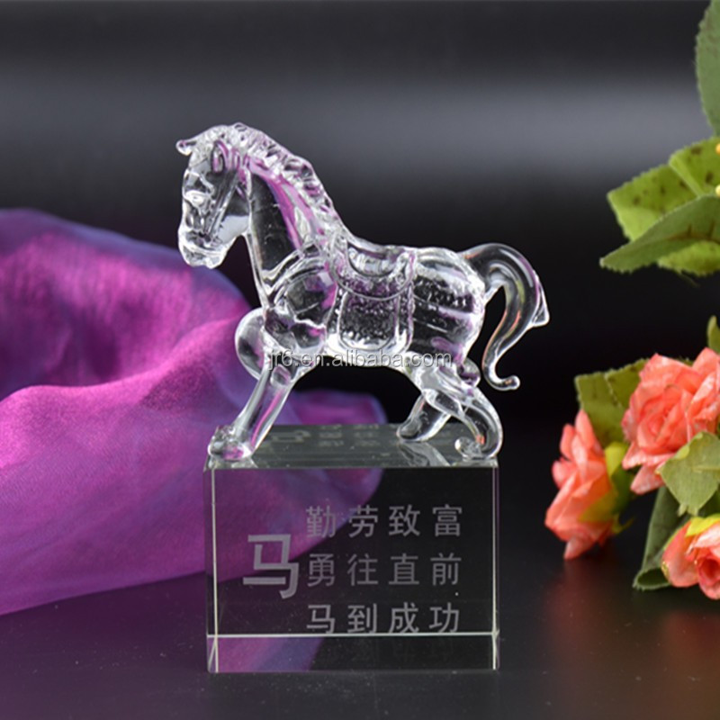 glass horse figurines crystal animal