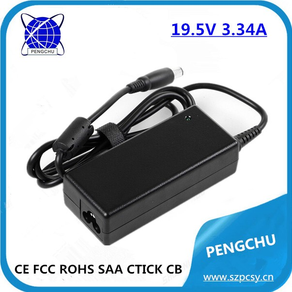 65W Laptop 19.5V 3.34A ac/dc adapter power supply