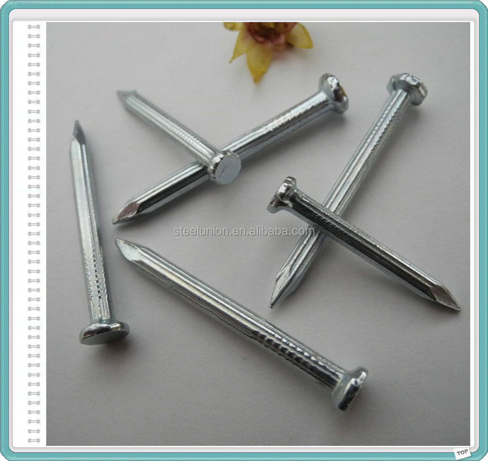 Electro Galvanized Concrete Steel Nails with Groove or Spiral Shank