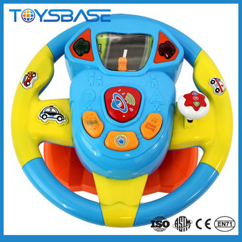 Wholesale educational music toy steering wheel cover with lights