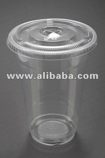 Eco-friendly PET Clear Cup with Lid